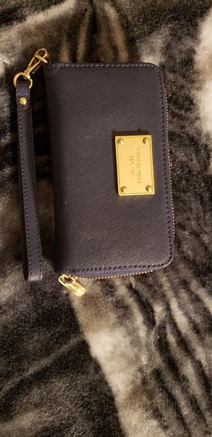Navy Blue Michael Kors Wristlet Wallet for Sale in Sacramento, CA