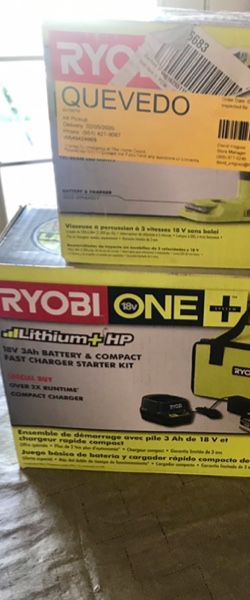 Ryobi drill impact driver and battery set for Sale in Rialto, CA