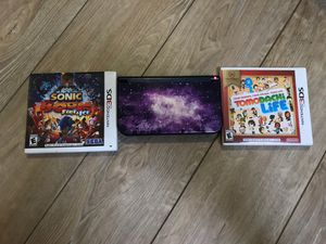 Nintendo 3ds XL galaxy edition with Sonic Boom Fire and Ice and Tomodachi Life for Sale in Brockton, MA