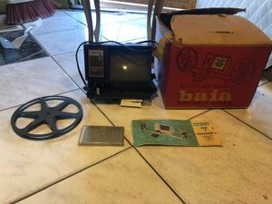 Vintage Baia Ediviewer Mark II Dual 8 Live Action Movie Editor Model 07200 For Both Regular 8mm Film and Super 8 Film with Original Box and Manual for Sale in Philadelphia, PA