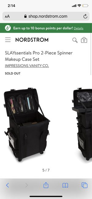 Makeup artist set makeup case and chair by impressions vanity for Sale in Las Vegas, NV