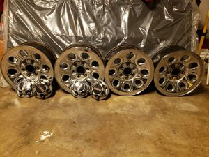 17 stock rims for chevy silverado or gmc sierra 6 lugs for Sale in Houston, TX