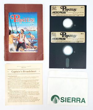 "MicroProse - Pirates! - 5.25"" Floppy Disks, Manual etc. (1987) - IBM PC Tandy for Sale in Trenton, NJ"