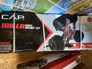 NEW 100lb Adjustable Curl Bar Weight Set for Sale in Lake Stevens, WA