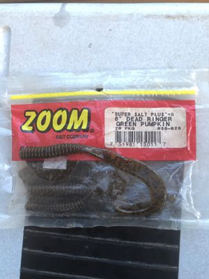 "ZOOM 6"" dead ringer green pumpkin fishing lure tackle bait for Sale in Greensboro, NC"