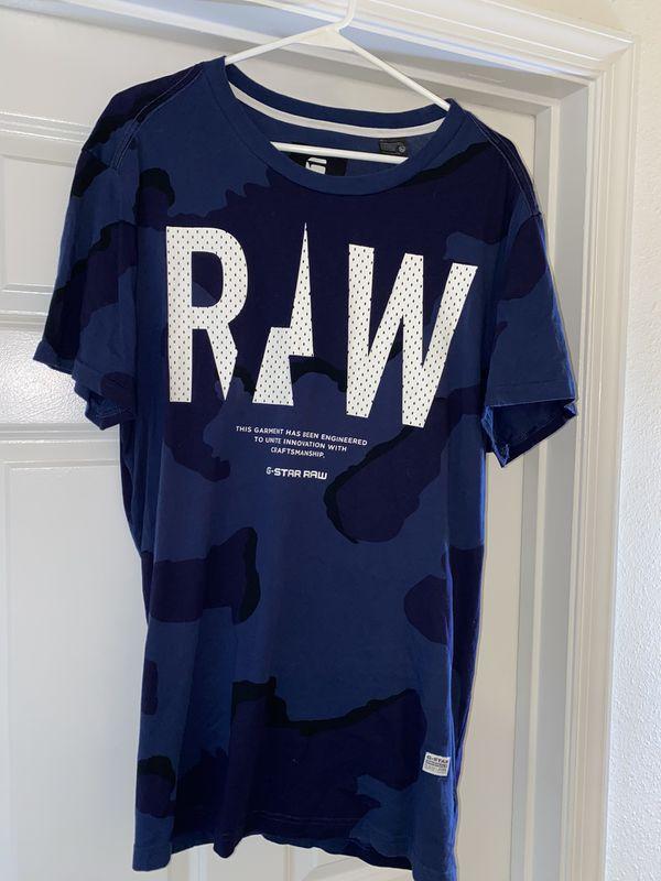 G-Star Raw Blue Camo T-Shirt size XL