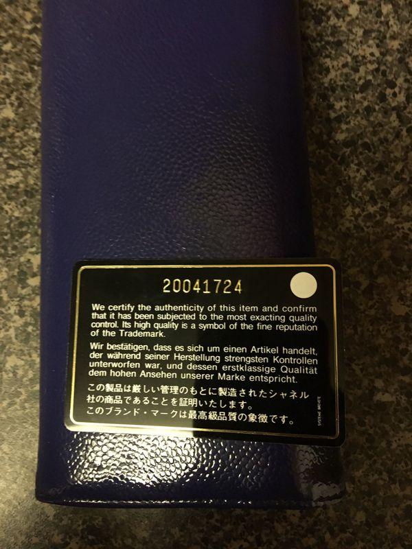 Chanel Blue Patent Caviar CC Large Gusset Flap Wallet