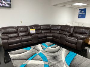 WE ARE OPEN! COMFY NEW MADRID RECLINING SECTIONAL SOFA ON SALE ONLY $999. SAME DAY DELIVERY. NO CREDIT NEEDED FINANCING! for Sale in Tampa, FL