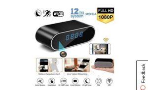 Hidden Camera Alarm Clock - Camera Video Recorder HD 1080P WIFI Alarm Clock Camera Security Motion Detection Night Vision Anti-theft Monitoring for Sale in Sanger, CA