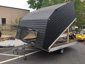 """2008 LoadRite 10'x101"""" enclosed aluminum clam shell trailer will trade for Sale in Westford, MA"""