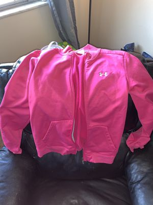 UA, Russell, and tangerine jackets for Sale in Grove City, OH