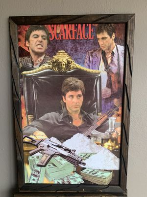 Scarface frame 3ft by 2ft for Sale in Los Angeles, CA
