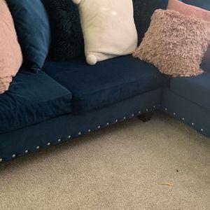 Blue Velvet Couch for Sale in Dunwoody, GA
