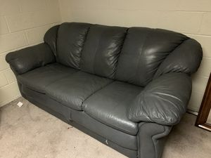 Real leather grey sofa and love seat for Sale in Bexley, OH