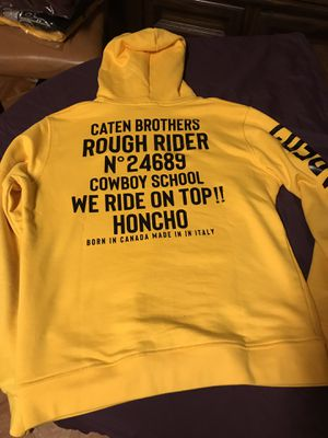 Dsquared2 hoody or crewneck yellow sizes S - XXL fitted for Sale in Rockville Centre, NY