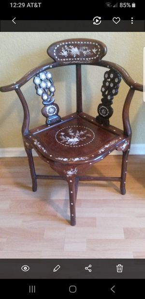 Antique chair with mother of pearl details for Sale in Delray Beach, FL