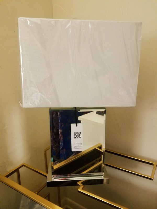 Set Of Illumination Station Mirrored Table Lamps Height 22 Base 9 W 6 L Top 14 W 7 L For Sale In Silver Spring Md Offerup