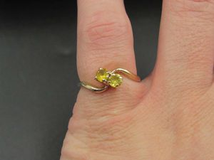 Size 5.75 10K Gold Yellow Topaz Gem Band Ring Vintage Estate Wedding Engagement Anniversary Gift Idea Beautiful Elegant Unique Cute Cool for Sale in Everett, WA