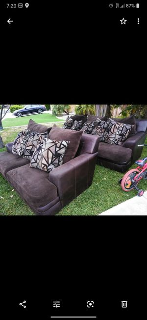Dark brown couches for Sale in Temecula, CA