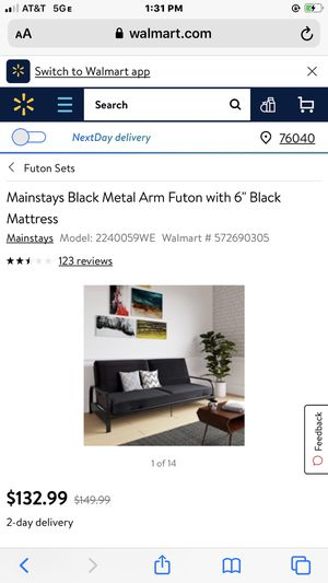 Mainstays futon with mattress barely used for Sale in Colorado Springs, CO