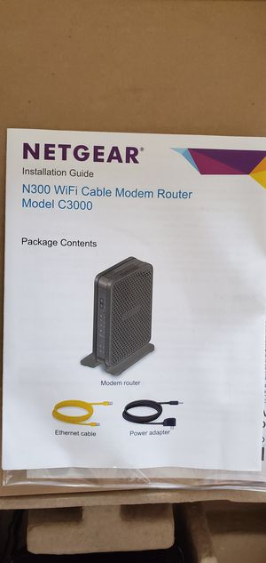 Netgear N300 WIFI cable modem router for Sale in Westchester, CA