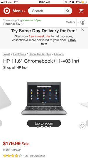 HP touch screen CHROMEBOOK for Sale in Phoenix, AZ