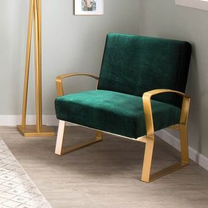 Glam Lounge Chairs in Metal and Velvet Fabric - Green for Sale in Germantown, MD