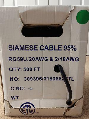 RG59U Siamese Coax Cable 500ft Roll for Sale in Greensboro, NC