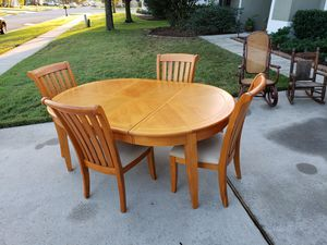 Kitchen table with leaf and four chairs for Sale in Eustis, FL