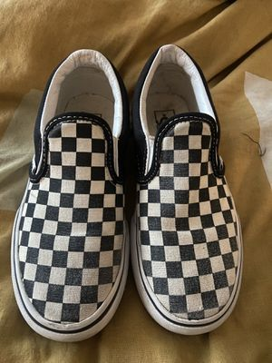 Vans black and white checkerboard kids 2.5 for Sale in Everett, WA