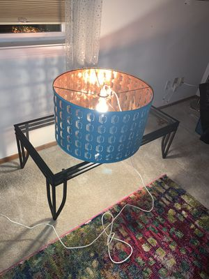 Ceiling light / lighting. Teal color outside, gold inside. for Sale in Milwaukie, OR