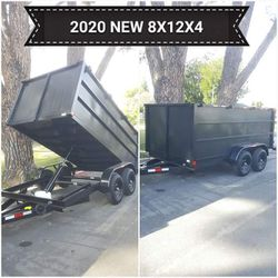 BRAND NEW DUMP TRAILER 8X12X4 HEAVY DUTY DOUBLE AXLE 12000 LBS READY TO WORK,I HAVE TITLE IN HAND IF SOMEONE INTERESTED TEXT ME ANY TIME THANKS for Sale in Los Angeles,  CA