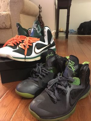 Lebron 9 Hurricanes + Free shoes (size 8.5) for Sale in Alexandria, VA