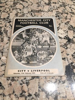 Man City League Division one program for Sale in Los Angeles, CA