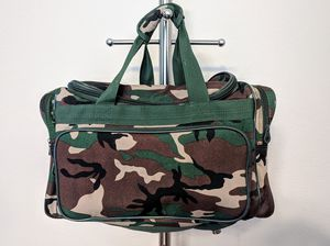 Small Medium Camouflage Duffle Gym Bag w/ 3 Pockets Camo Outdoor Sports Travel Utility for Sale in Plano, TX