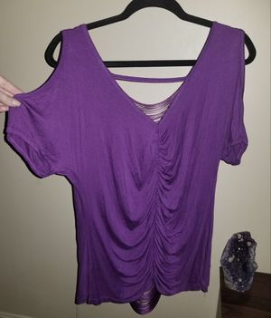 XL purple cold shoulder top for Sale in Torrington, CT