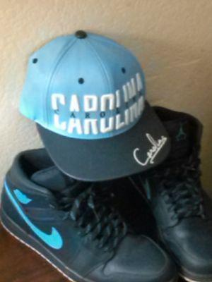 Jordan 1's mid top size 11 with hat for Sale in Valdosta, GA