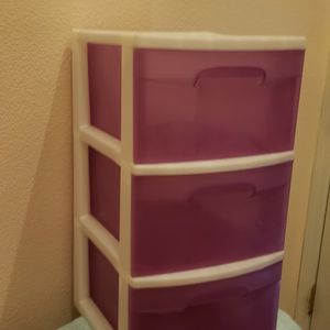Pink And White Plastic Drawers for Sale in Las Vegas, NV