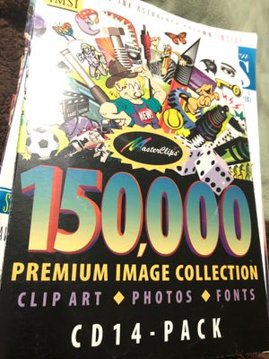 11 CD pack master Clips Photos. Fonts. Premium image collection for Sale in Sterling, KS