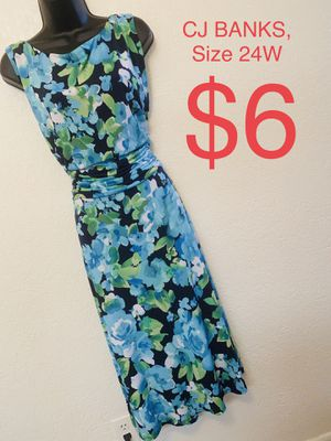 CJ BANKS, Multicolored Floral Sleeveless Dress, Size 24W for Sale in Phoenix, AZ
