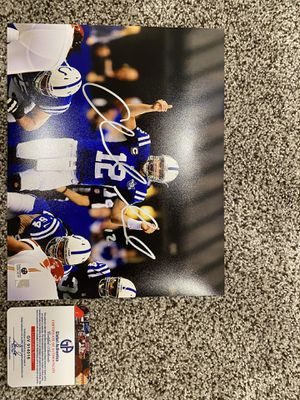 Andrew Luck signed 8x10 with COA for Sale in Bloomington, IL