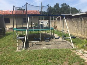 Playground swings and slide set for Sale in Tampa, FL