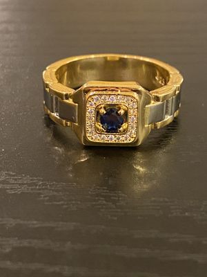 Unisex 18K Gold plated Chain Design Ring -Code BLU90 for Sale in Houston, TX