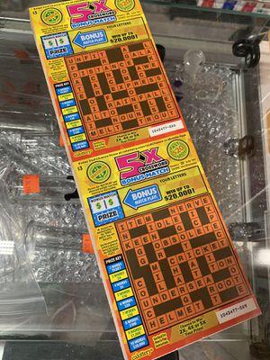 SCRATCHERS $3 5x CROSSWORD for Sale in Los Angeles, CA