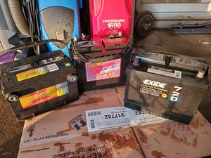 Lot 4 Batteries 8XHD EXIDE 720 24 72 power plus 40 Light Track Boat Van mobile house camper for Sale in Vancouver, WA
