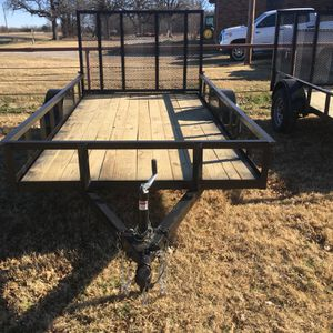 NEW . Shop Built 6 x 12 Single Axle Utility Trailer W/ Ramp . No Title . New. Read Ad. $1300 CASH Firm . Meet For Pickup . for Sale in Fort Worth, TX