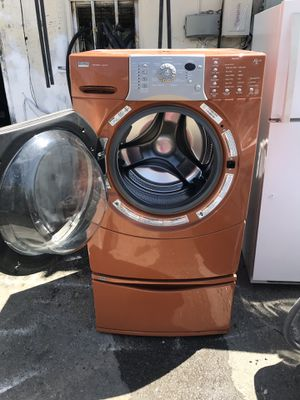 Front load washer& dryer with base , great condition, work good, great deal for Sale in San Jose, CA