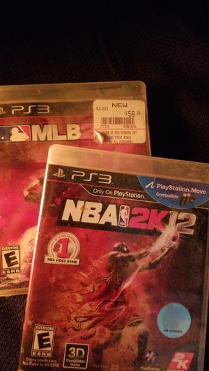 Mlb2k13 and nba2k12 ps3 games for Sale in Tacoma, WA