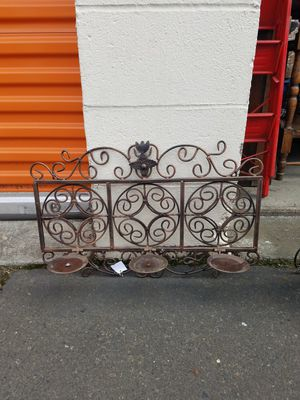 Metal wall hanging candle holder for Sale in Fairview, OR