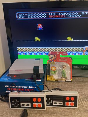 Classic console Anniversary Edition Arcade Games 🕹 620 Games included JUST PLUG AND PLAY + Luigi Fire Figure World of Nintendo for Sale in Hollywood, FL